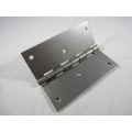 Hinge Stainless Steel 1.6mm thick 4in. high x 1.5in. wide DRILLED 3 holes each wing (701.0051)
