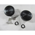 Window Winder Knob Chevrolet GM Black 1952-On; sold as PAIR (701.13033)