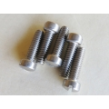 "Machine Screw #10-24 x 3/4"" Fillister Slotted Head polished Stainless Steel pack of 10 screws [202.0804]"
