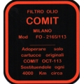 Alfa Romeo Decal COMIT Oil Filter Housing Giulietta, Giulia [403.COM]