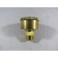 "Brass Grease Cup 1/4"" BSP 1-1/4"" Dia. 15cc. Capacity, Fully Machined (500.C016)"