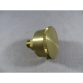 "Brass Grease Cup 3/8 BSP 1-1/2"" Dia. 20 cc Capacity Machined (500.C019)"