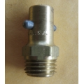 "Grease Nipple Pin Type 1/4""NPT, Straight Alemite Brass Type (500.GN189)"