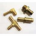 Fuel System hose fittings; pipe elbows; hose Tee-pieces; adaptor plates; throttle shaft ball joints; carby heat insulators
