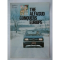 Alfa Romeo THE ALFASUD CONQUERS EUROPE 6 page Leaflet in English A4 (401.AlfaSudConquers)