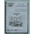 COOPER S 1275GT CLUBMAN FIA HOMOLOGATION & CAMS PAPERS INC PLUSPARTS DATA 1966 (408.COOPERSDATA)