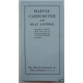 MARVEL CARBURETOR & HEAT CONTROL INSTRUCTION BOOK & PARTS LIST 1922 BUICK (901.MarvData)