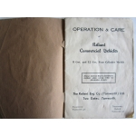 Reliant 8 and 12 CWT Commercial Vehicle Instruction Book 1939 on (402.ReliantHBook)