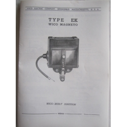 Classic Carbs - Wico Magneto Type EK Factory Instruction