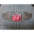 Phillips 66 Denim Blue Silver Winged Baseball Cap Authorised Product (800.PhillipsCap)