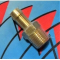 "BRASS HOSE BARB FUEL FITTING 1/4"" BSP TO 5/16"" HOSE suits Holley Mechanical Pumps (900.14-33)"