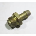 """Brass hose barb 9/16"""" 24 tpi x 3/8"""" hose Holley fuel inlet (900.26-29)"""