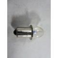 Globe 2.4 Volts 0.50W P13.5s Base, Push-in Type, Flange below Glass, Vintage Torches, Bicycle Lamps (102.GPR2)