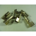 Spark Plug Terminal 7mm Brass Push-On Straight High Tension (102.H120B)