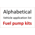 VEHICLE APPLICATIONS - ALPHABETICAL