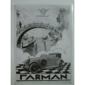 Farman motor car Poster B and W (407.FARMANB_W)