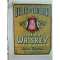 Jack Daniels Belle of Lincoln Whisky Poster A3 Size (407.JDBelleLincolnA3)