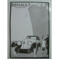Poster Renault 1920's B and W A3 Advertisement (407.RenaultA3)
