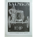Poster Salmson 1920's Rene' Vincent Famous Painting A3 (407.SalmsonA3)
