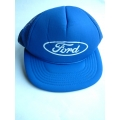 "FORD BLUE BASEBALL CAP MESH BACK WHITE OVAL AND ""FORD"" SCRIPT LOGO (800.CAPFORD 01)"