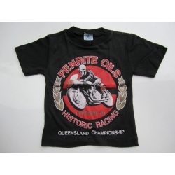 T SHIRT HISTORIC LAKESIDE MOTORCYCLE MEETING 1991 SIZE 14 BLACK WITH LOGO (800.TBC1491)