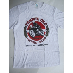 T SHIRT NOSTALGIA LAKESIDE MOTORCYCLE MEETING 1991 ADULT WHITE BIKE LOGO 18 (800.TWA1891)