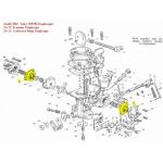Zenith 30IZ, 30IZE, and Solex 30PSEI, B30PSEI, B30PSEI-2, B30PSEI-3, 33PSEI; Bedford, Reliant, Vauxhall, Torana LJ, TA; Hillman, Singer; (4 screw mounting) Accelerator Pump Diaphragm Kit (900.B17446)